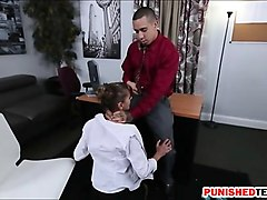 Office, Babe, Horny girls gets her ass fucked hard