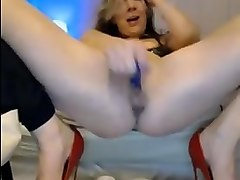 Blonde, Orgasm, Milf, Erotic massage of slim babe ends by anal